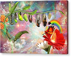 Acrylic Print featuring the digital art New Life by Dolores Develde