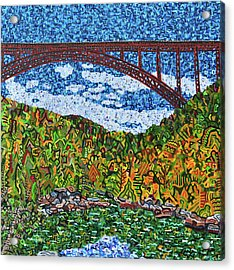 New River Gorge Acrylic Print by Micah Mullen