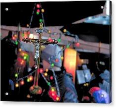 New York Christmas Acrylic Print by Patrick  Flynn