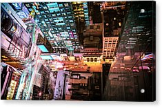 New York City - Night Acrylic Print by Vivienne Gucwa