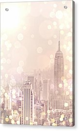 New York City - Skyline Dream Acrylic Print by Vivienne Gucwa