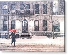 New York City Snow Acrylic Print by Vivienne Gucwa