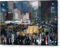 New York Acrylic Print by Mountain Dreams