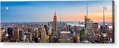 New York Skyline Panorama Acrylic Print