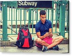 New York Subway Station Acrylic Print