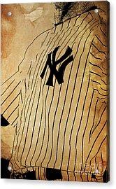 New York Yankees Baseball Team Vintage Card Acrylic Print by Pablo Franchi