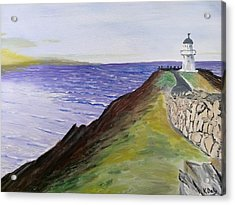 Acrylic Print featuring the painting New Zealand Lighthouse by Kevin Daly