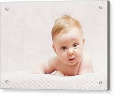 Newborn Fine Portrait Acrylic Print by Gualtiero Boffi