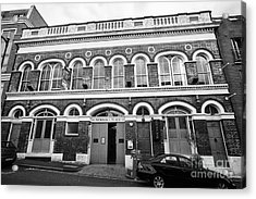 newhall place and the vaults bar and restaurant Birmingham UK Acrylic Print by Joe Fox