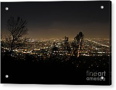 Night At Griffeth Observatory Acrylic Print