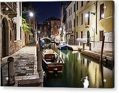 Night Canal Acrylic Print