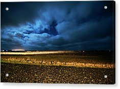 Acrylic Print featuring the photograph Icelandic Night  by Dubi Roman