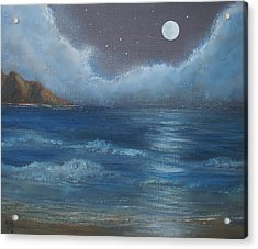Night Seascape Acrylic Print