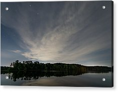 Night Sky Over The Lake Acrylic Print