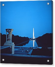 Night View Of The Washington Monument Across The National Mall Acrylic Print by American School