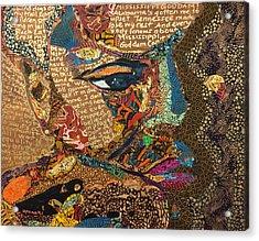 Nina Simone Fragmented- Mississippi Goddamn Acrylic Print