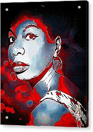 Nina Simone Acrylic Print by Lynda Payton