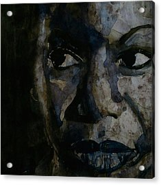 Nina Simone  Acrylic Print by Paul Lovering