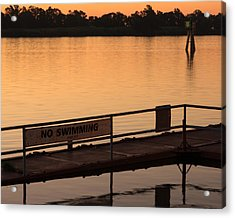 No Swimming Rio Vista Ca Acrylic Print by Troy Montemayor
