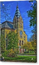 Notre Dame University Acrylic Print by Mountain Dreams