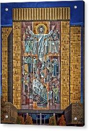 Notre Dame's Touchdown Jesus Acrylic Print by Mountain Dreams
