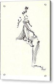 Nude Four Acrylic Print by R  Allen Swezey