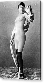 Nude Posing, C1888 Acrylic Print by Granger