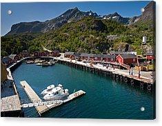 Nusfjord Fishing Village Acrylic Print