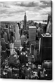Nyc Downtown Acrylic Print by Nina Papiorek