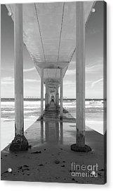 Acrylic Print featuring the photograph Ocean Beach Pier by Ana V Ramirez