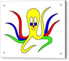 Octo-pus The Cuttlefish Acrylic Print by Asbjorn Lonvig