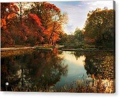October Finale Acrylic Print by Jessica Jenney