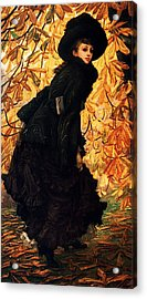 October Acrylic Print by James Jacques Joseph Tissot
