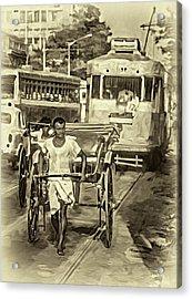 Oh Calcutta - Paint - Sepia Acrylic Print