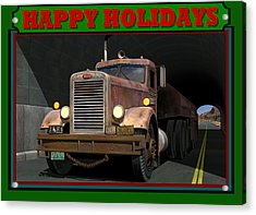 Acrylic Print featuring the digital art Ol' Pete Happy Holidays by Stuart Swartz