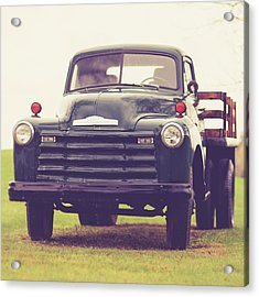 Old Chevy Farm Truck In Vermont Square Acrylic Print