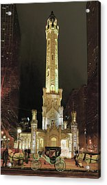 Old Chicago Water Tower Acrylic Print