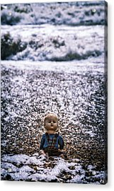 Old Doll On The Beach Acrylic Print
