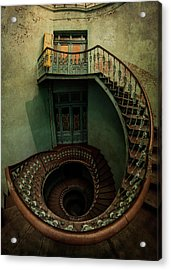 Old Forgotten Spiral Staircase Acrylic Print