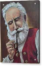 Old German With Pipe Acrylic Print