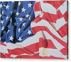 Old Glory Acrylic Print by Constance Drescher