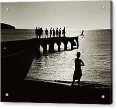 Old Jetty- St Lucia Acrylic Print by Chester Williams
