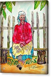 Old Migrant Worker, Resting, Arcadia, Florida 1975 Acrylic Print