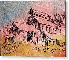 Old Mill Cable Ghost Town Montana_ Acrylic Print by Kevin Heaney