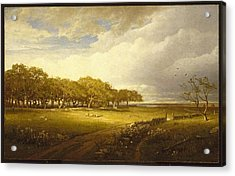 Old Orchard At Newport Acrylic Print by William Trost Richards