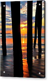 Old Orchard Beach Pier Sunrise - Maine Acrylic Print