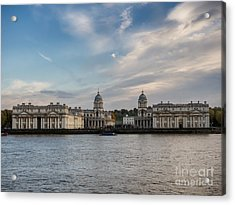 Old Royal Naval College In Greenwich Village, London Acrylic Print by Frank Bach
