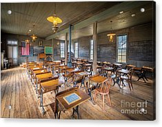 Old Schoolroom Acrylic Print by Inge Johnsson