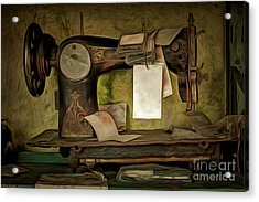 Old Sewing Machine Acrylic Print by Michal Boubin