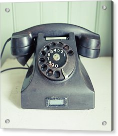 Old Telephone Square Acrylic Print